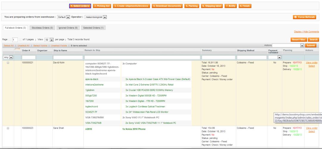 7  Order Preparation — Embedded ERP for Magento - BoostMyShop